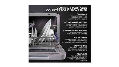 Farberware FDW05ASBWHA Portable Dishwasher