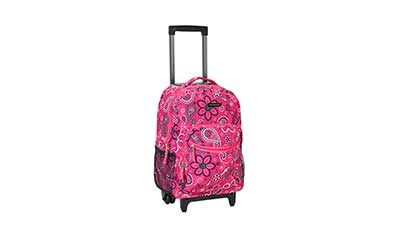Rockland Luggage 17 inch Rolling Backpack R01