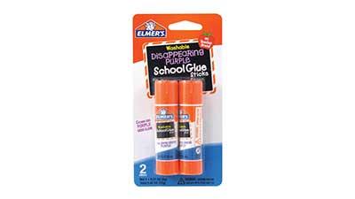 Disappearing Purple Washable School Glue Sticks
