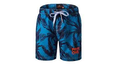 PAGE ONE Mens Swim Trunks Beach Shorts