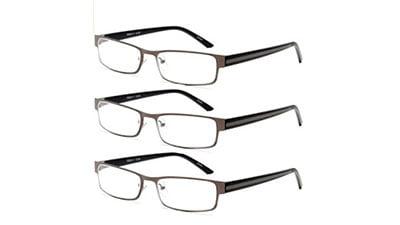 Lightweight Anti-Glare EFE Reading Glasses 3 Pack