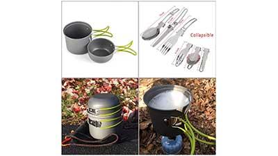 Portable Camping Cookware Set Mess Kit