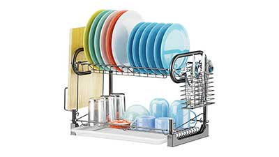 Dish Drying Rack with Removable Drain Board