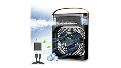Portable Air Conditioner Fan With Lights