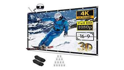 Projector Screen 100 inch 16:9 4K HD Foldable