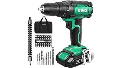 KIMO 20V Cordless Drill with Battery and Charger