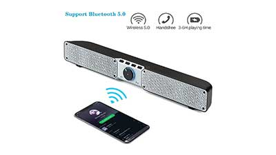 20W Bluetooth Speaker Built in Mic AUX USB