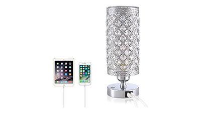 Crystal Bedside Table Lamp