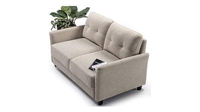 Double Seat Loveseat Sofa Tufted Cushions