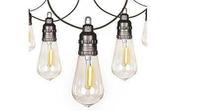 54Ft Lights with 15 Edison Bulbs Waterproof