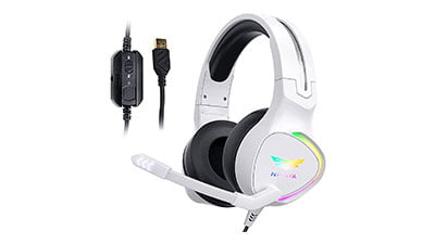 Nivava K12 White Gaming Headset with Microphone