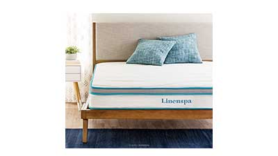 Linenspa 8 Inch Memory Foam Innerspring Mattress