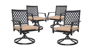 Outdoor Swivel Dining Chairs