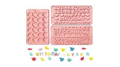 Leaves Letters Birthday Silicone Chocolate Molds