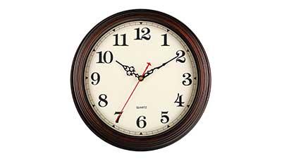 KECYET Vintage Wall Clock Silent Non Ticking