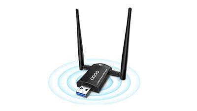 Wireless USB WiFi Adapter Dual 5dBi Antennas