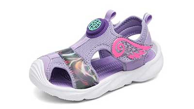 UBFENN Kids Sports Non-Slip Closed Toe Sandals