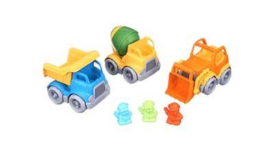 Green Toys Construction Trucks 3 Vehicle Gift Set