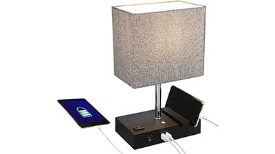 Touch Control Table Lamp with 2 USB Ports